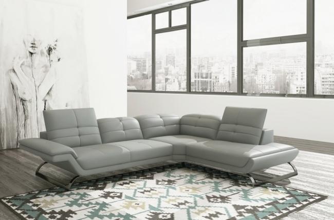 canap d 39 angle en 100 tout cuir italien 5 places moderni. Black Bedroom Furniture Sets. Home Design Ideas