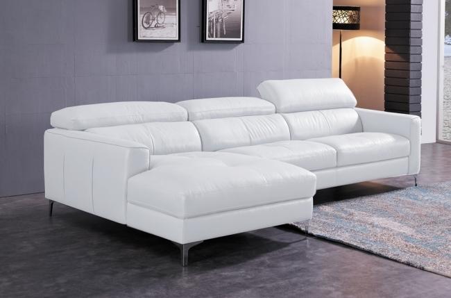 canap d 39 angle de luxe 5 places argo blanc angle gauche mobilier priv. Black Bedroom Furniture Sets. Home Design Ideas