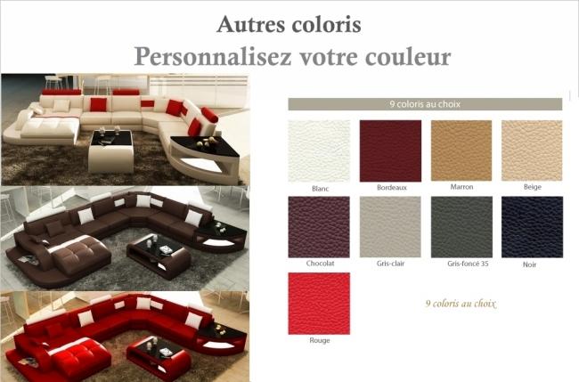 canapé d'angle 8 places nora, couleur personnalisée, angle droit méridienne à gauche