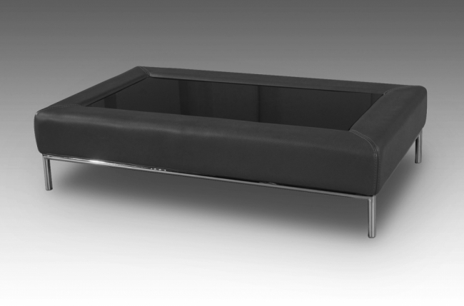 Table basse design conti noire mobilier priv - Table basse design noire ...
