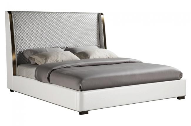 lit design de luxe perfecto, avec sommier à lattes, blanc, 180x200