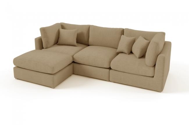 Canap d 39 angle en tissu de qualit sandro beige mobilier priv - Canapes de qualite ...