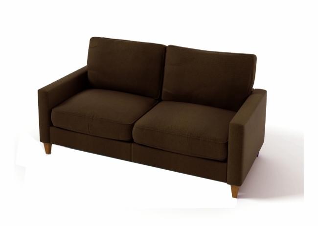 Canap 3 places en tissu de qualit sweden chocolat mobilier priv - Canapes de qualite ...