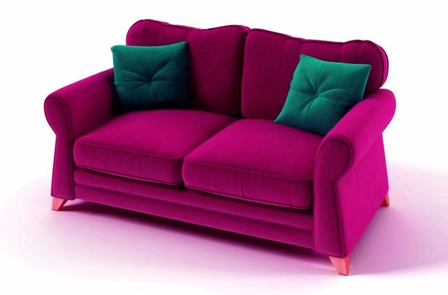 canap 2 places convertible en tissu de qualit tomy fuschia mobilier priv. Black Bedroom Furniture Sets. Home Design Ideas