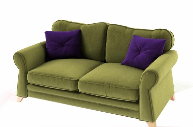 canap 3 places en tissu de qualit tomy vert mobilier priv. Black Bedroom Furniture Sets. Home Design Ideas