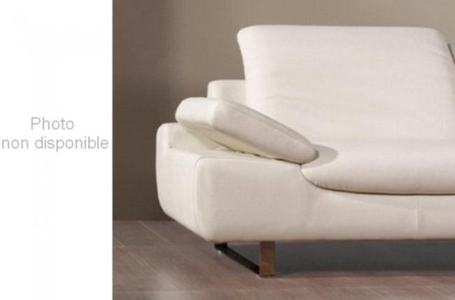 fauteuil une place en cuir sup rieur luxe haut de gamme italien torino blanc mobilier priv. Black Bedroom Furniture Sets. Home Design Ideas