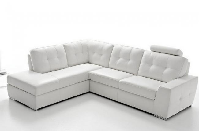 canapé d'angle tosca en simili cuir de qualité supérieure vénésetti