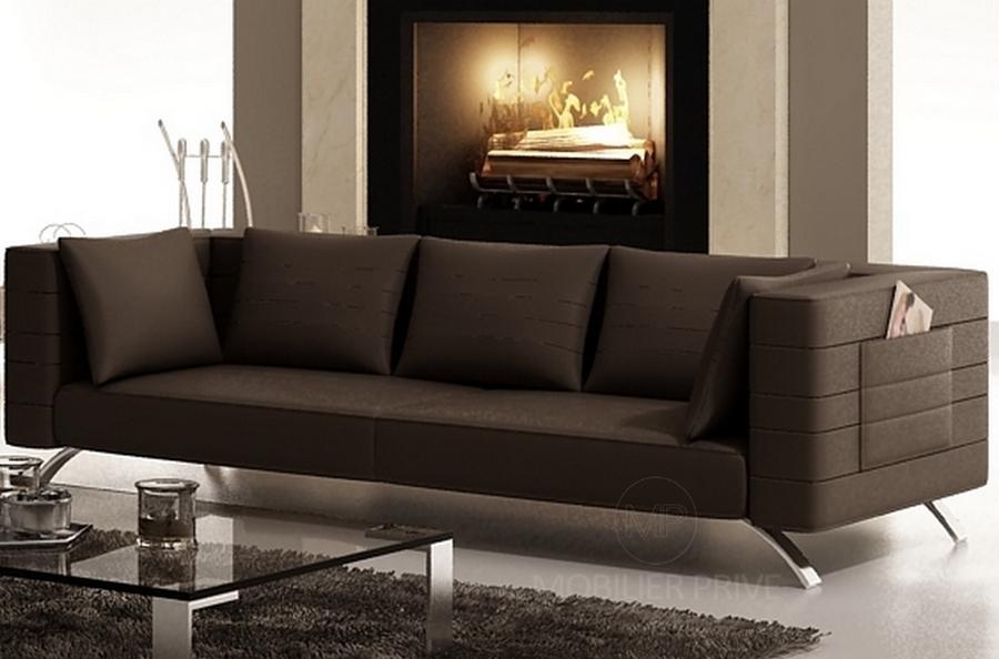 canap 2 places en cuir mobilier priv. Black Bedroom Furniture Sets. Home Design Ideas