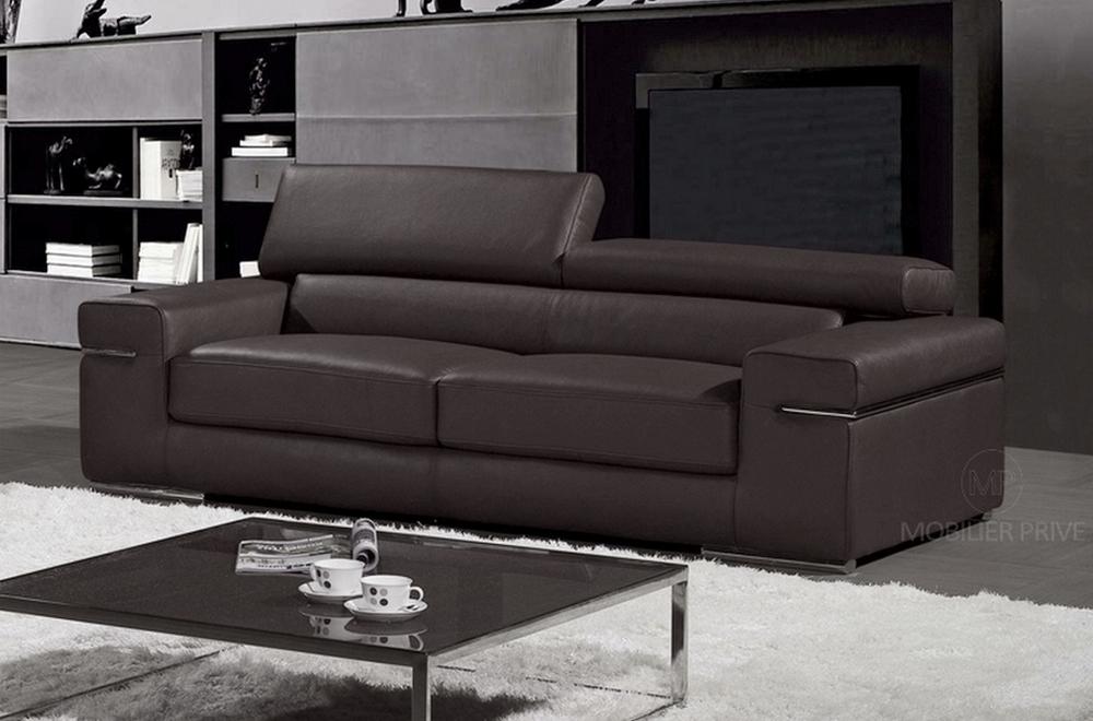 canap 3 places en cuir mobilier priv. Black Bedroom Furniture Sets. Home Design Ideas