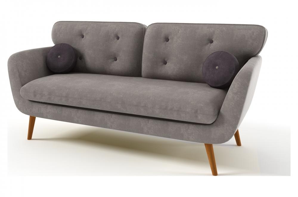 canap 2 places en tissu de qualit almera gris acier mobilier priv. Black Bedroom Furniture Sets. Home Design Ideas