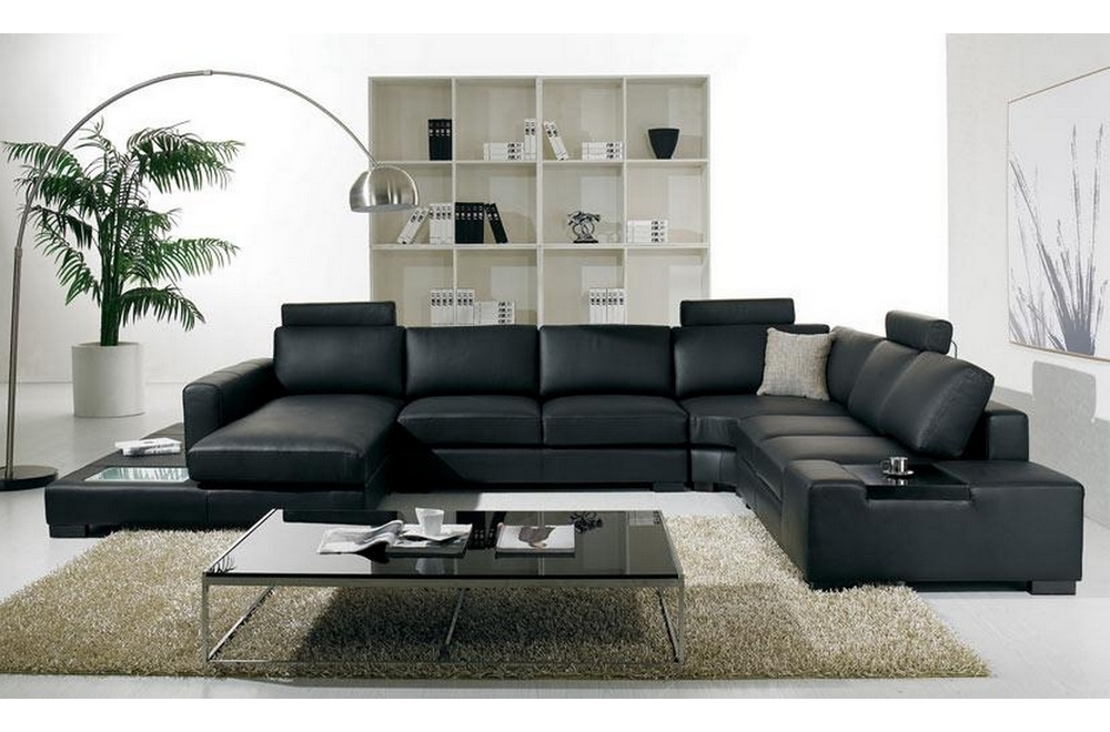 canap d 39 angle en cuir italien 8 places almera avec. Black Bedroom Furniture Sets. Home Design Ideas