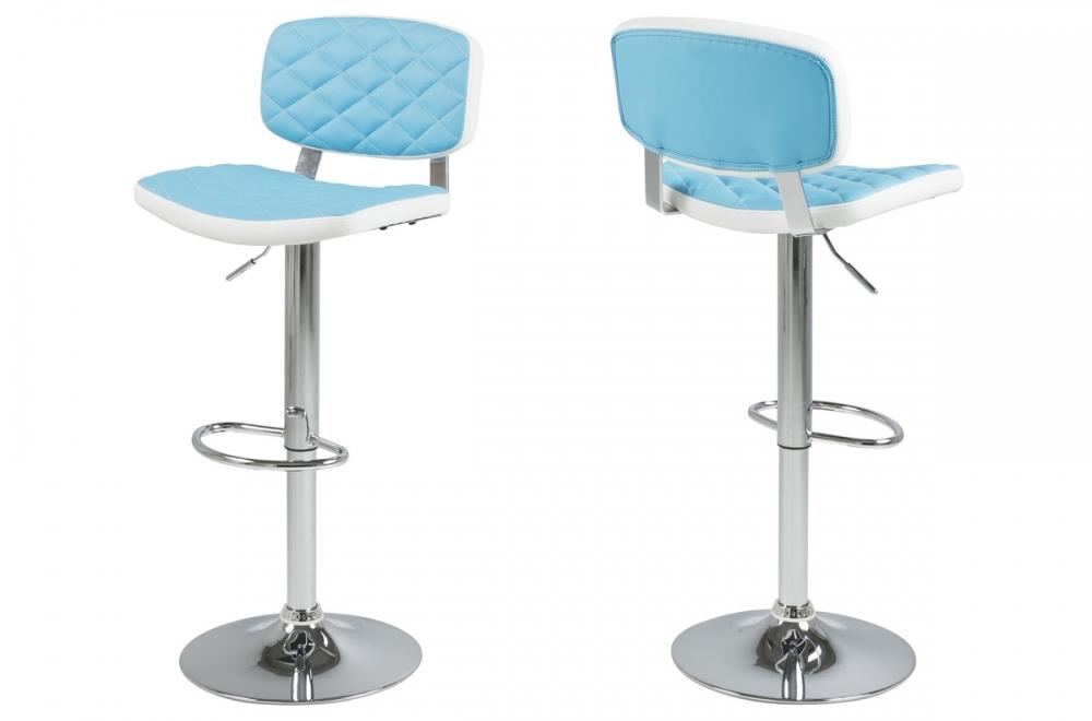 lot de 2 tabourets design en simili cuir bleu et blanc alvero mobilier priv. Black Bedroom Furniture Sets. Home Design Ideas