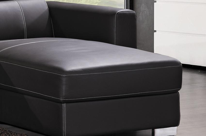 canap d 39 angle convertible en cuir de buffle italien de. Black Bedroom Furniture Sets. Home Design Ideas
