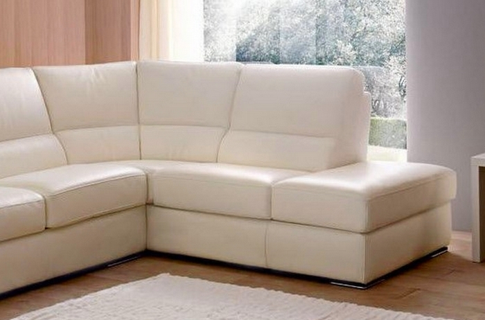 canap d 39 angle barsano en cuir haut de gamme italien vachette cuir prestige luxe ecru angle. Black Bedroom Furniture Sets. Home Design Ideas