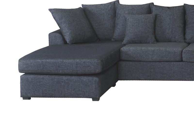 canap d 39 angle panoramique en tissu de qualit belo m ridienne droite gris mobilier priv. Black Bedroom Furniture Sets. Home Design Ideas