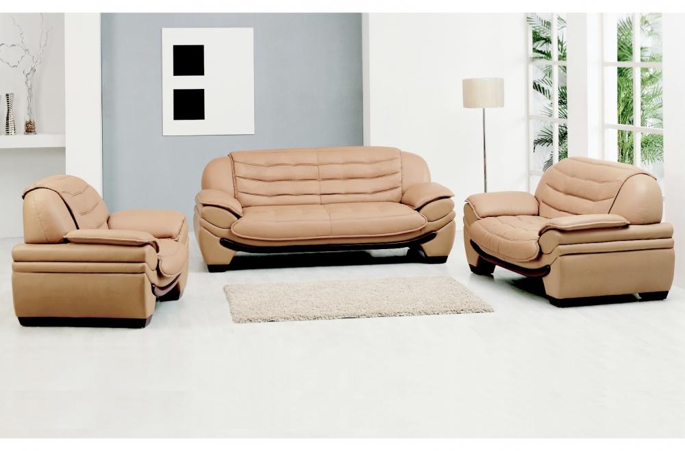 fauteuil 1 place en cuir italien benson beige mobilier priv. Black Bedroom Furniture Sets. Home Design Ideas