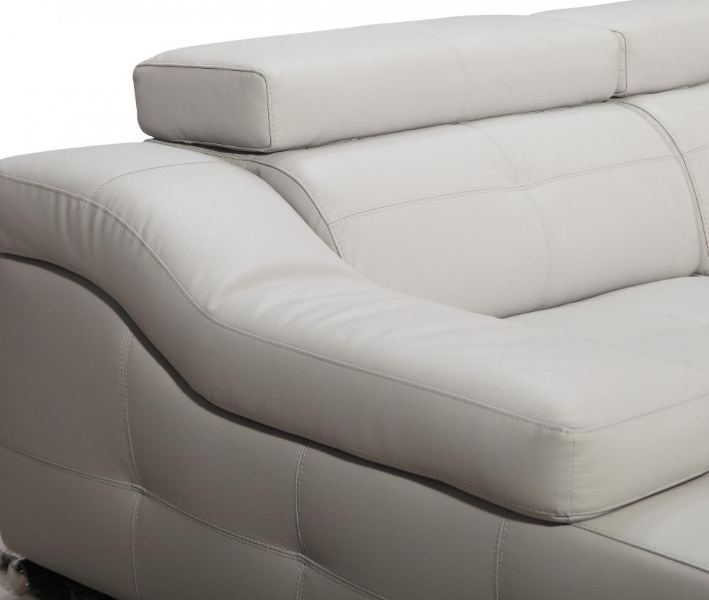 Canap d 39 angle double relax en cuir de buffle italien de luxe 5 places - Canape de luxe en cuir ...
