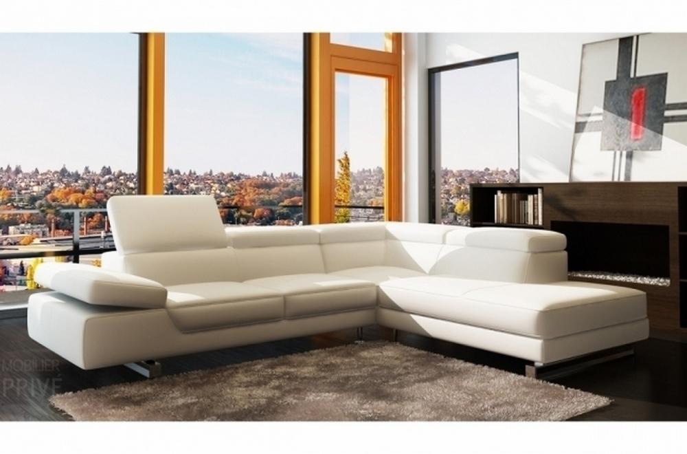 Canap d 39 angle en cuir prestige luxe italien 5 6 places Canape luxe italien