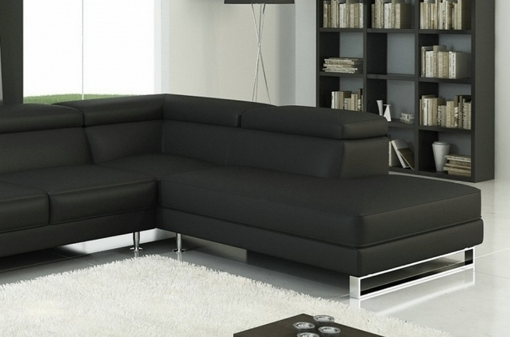 canap d 39 angle en cuir italien 5 6 places george petit mod le noir angle droit mobilier priv. Black Bedroom Furniture Sets. Home Design Ideas