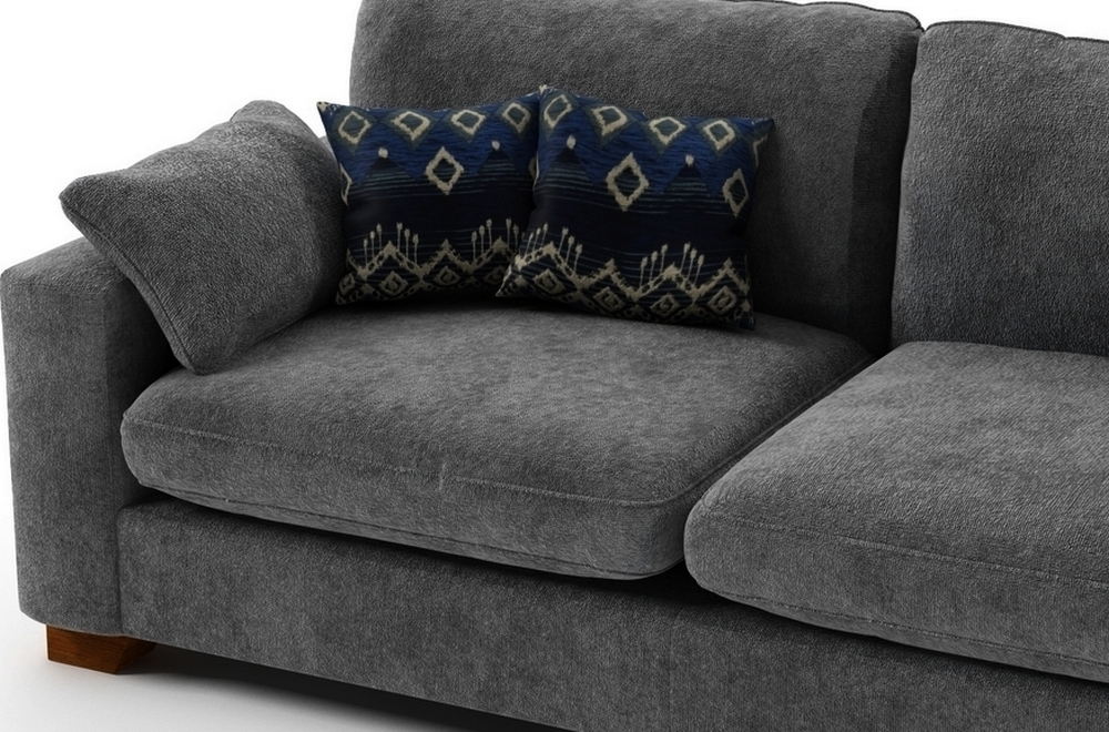 canap 3 places en tissu de qualit cosy gris brun mobilier priv. Black Bedroom Furniture Sets. Home Design Ideas
