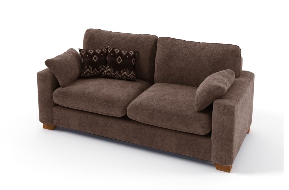 canap 2 places convertible en tissu de qualit cosy marron mobilier priv. Black Bedroom Furniture Sets. Home Design Ideas