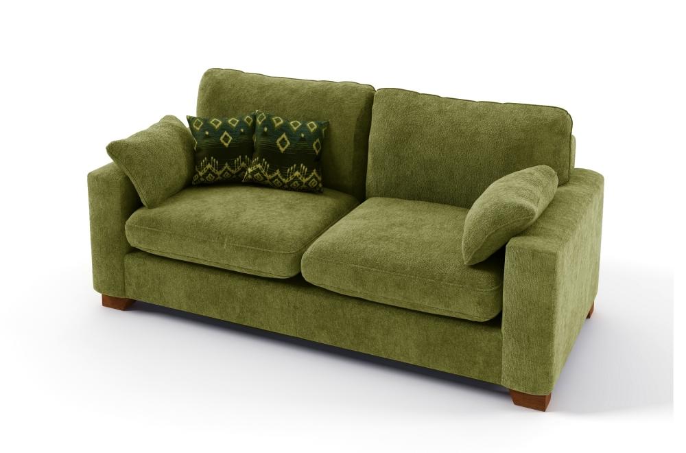 canap 2 places convertible en tissu de qualit cosy vert mobilier priv. Black Bedroom Furniture Sets. Home Design Ideas