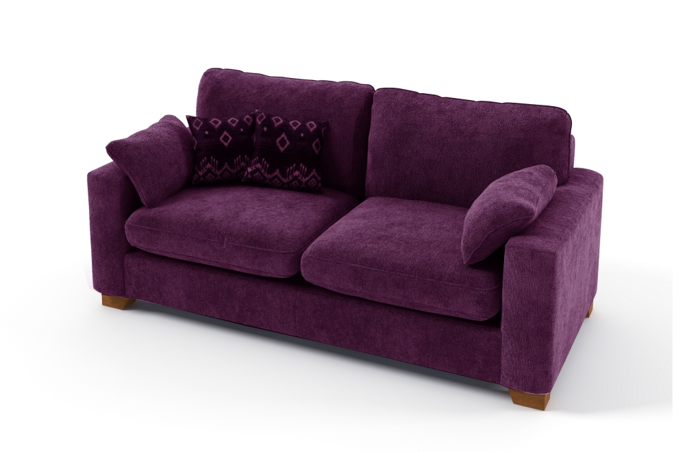 canap 2 places convertible en tissu de qualit cosy violet mobilier priv. Black Bedroom Furniture Sets. Home Design Ideas