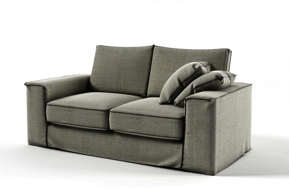 canap 2 places en tissu de qualit crooner gris mobilier priv. Black Bedroom Furniture Sets. Home Design Ideas