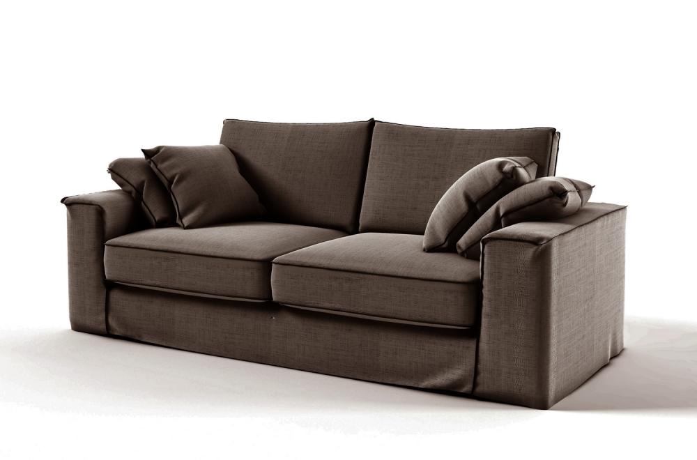 canap 3 places en tissu de qualit crooner marron mobilier priv. Black Bedroom Furniture Sets. Home Design Ideas