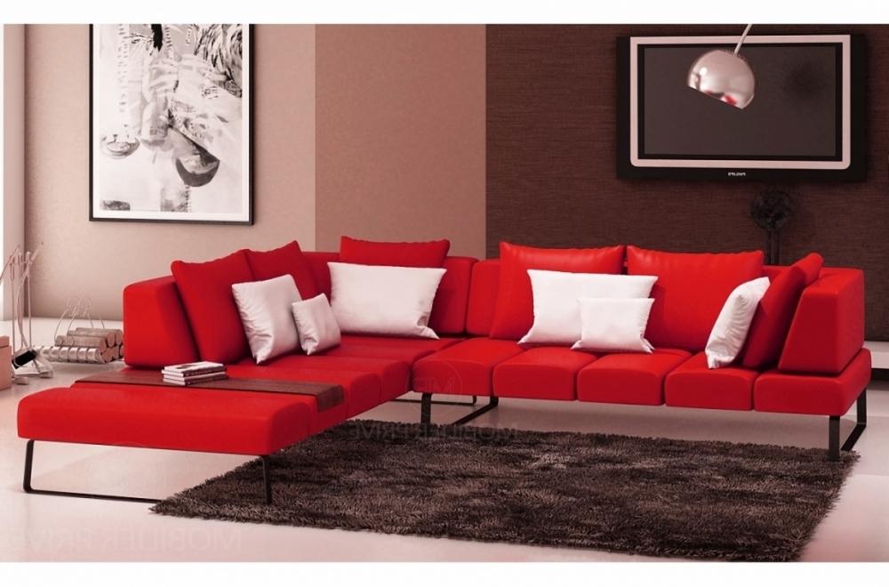 canap d 39 angle en cuir italien 6 7 places elena rouge. Black Bedroom Furniture Sets. Home Design Ideas