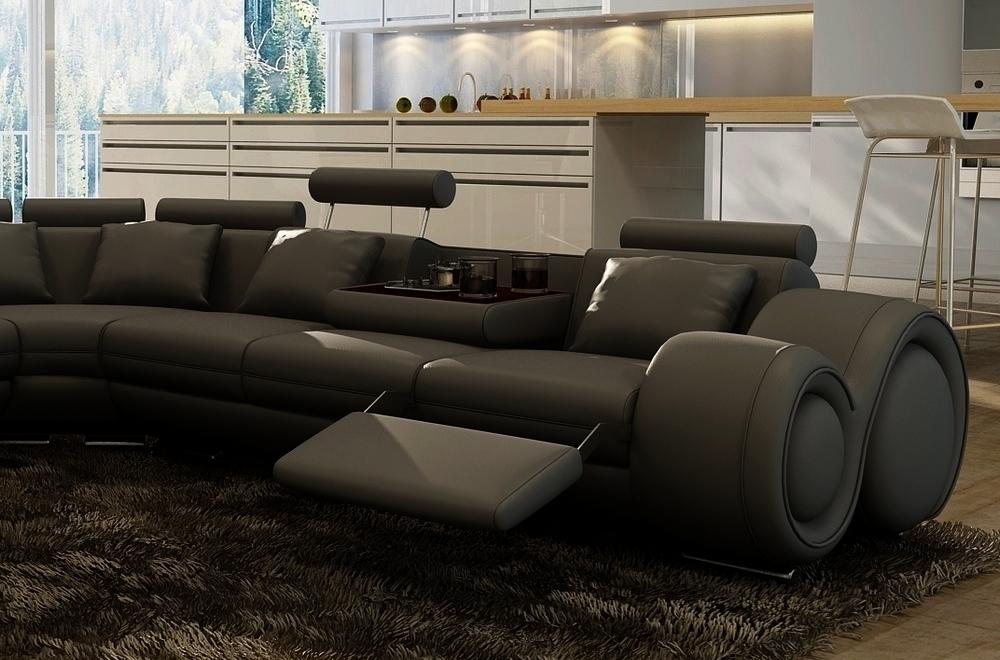 canap d 39 angle en cuir italien 5 6 places petit excelia noir mobilier priv. Black Bedroom Furniture Sets. Home Design Ideas