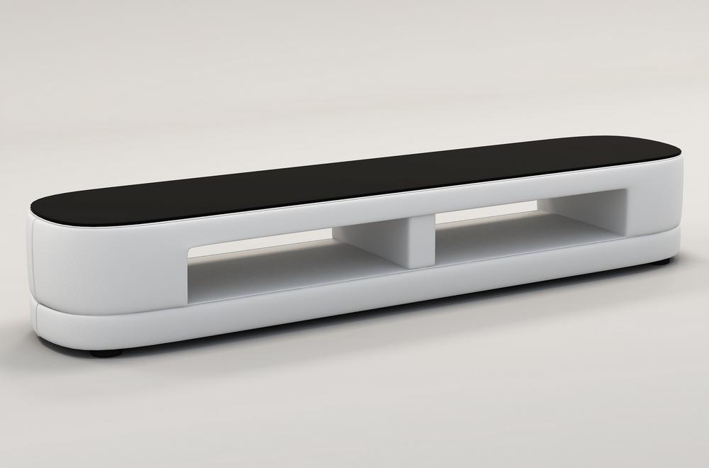 meuble tv design staro tres joli modele aux lignes tendances blanc