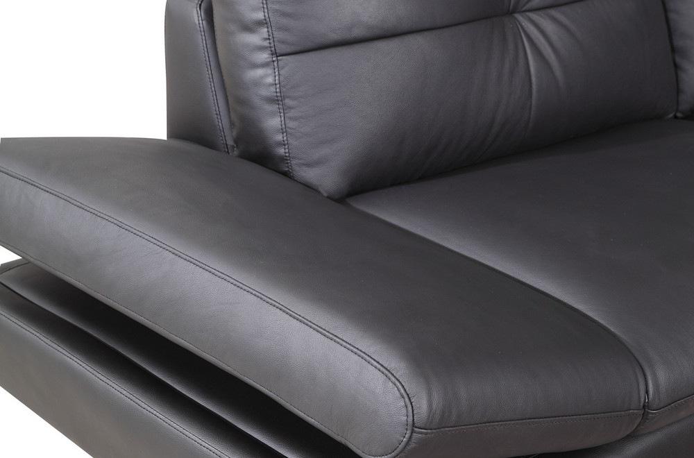 canap d 39 angle qualit luxe 6 7 places bellastar noir angle gauche mobilier priv. Black Bedroom Furniture Sets. Home Design Ideas