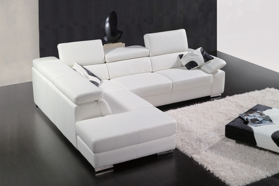 canap d 39 angle en cuir italien 5 places helios blanc mobilier priv. Black Bedroom Furniture Sets. Home Design Ideas