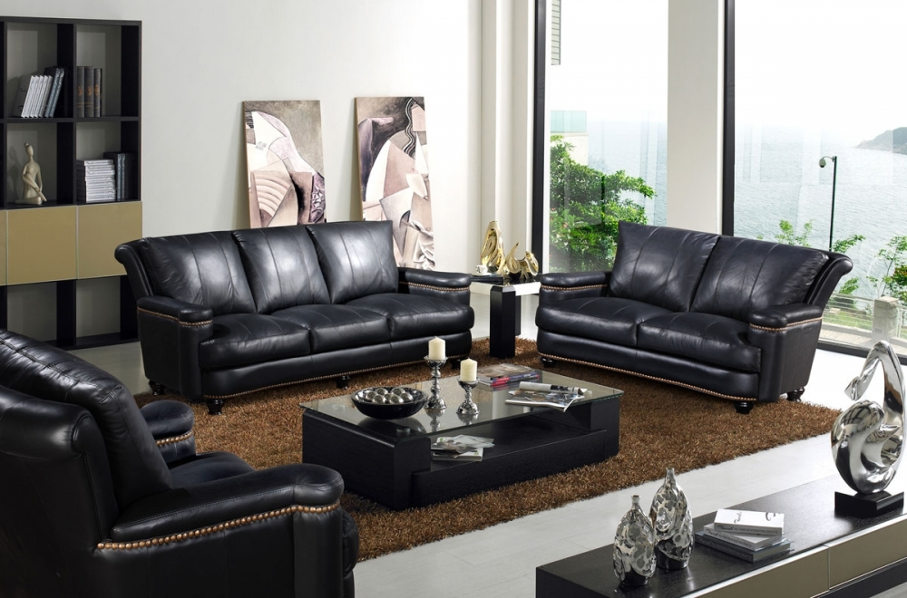 ensemble imperial 3 pi ces canap 3 places 2 places fauteuil 1 place en cuir italien. Black Bedroom Furniture Sets. Home Design Ideas