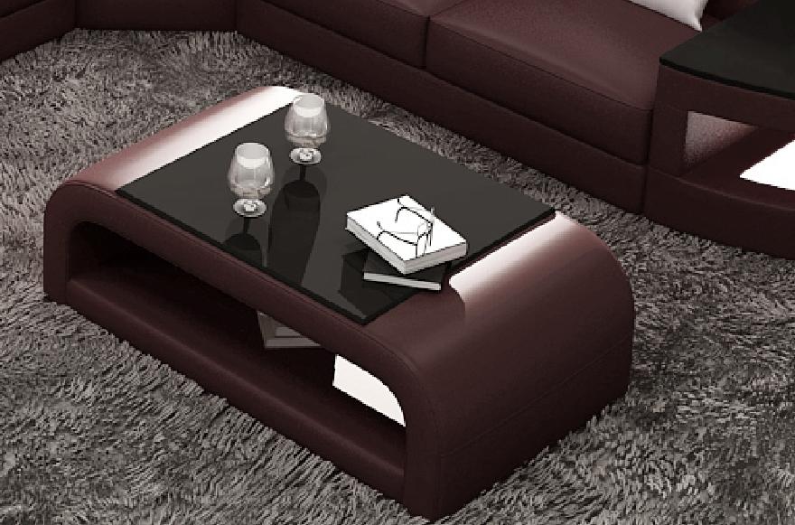 table basse design jersey chocolat mobilier priv. Black Bedroom Furniture Sets. Home Design Ideas