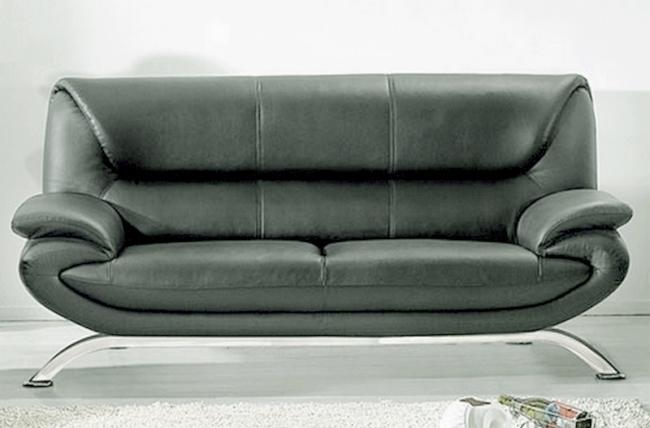 canap 3 places en cuir italien jonah gris fonc. Black Bedroom Furniture Sets. Home Design Ideas