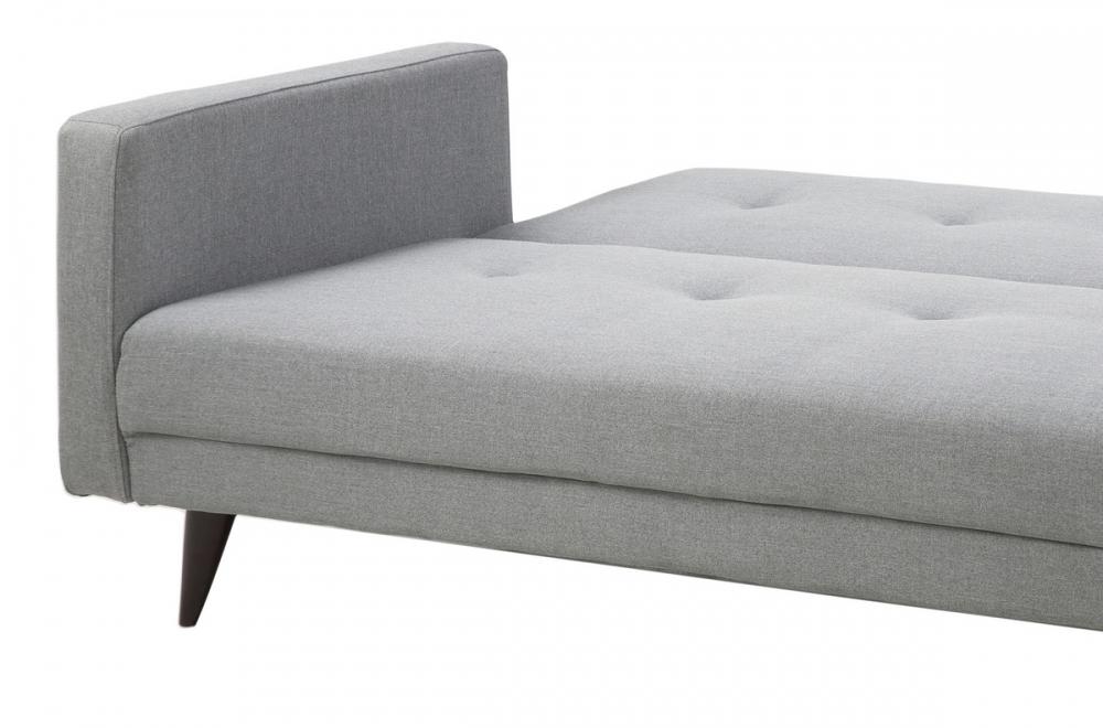 Canap lit 3 places en tissu de qualit lexon gris clair - Canapes convertibles de qualite ...
