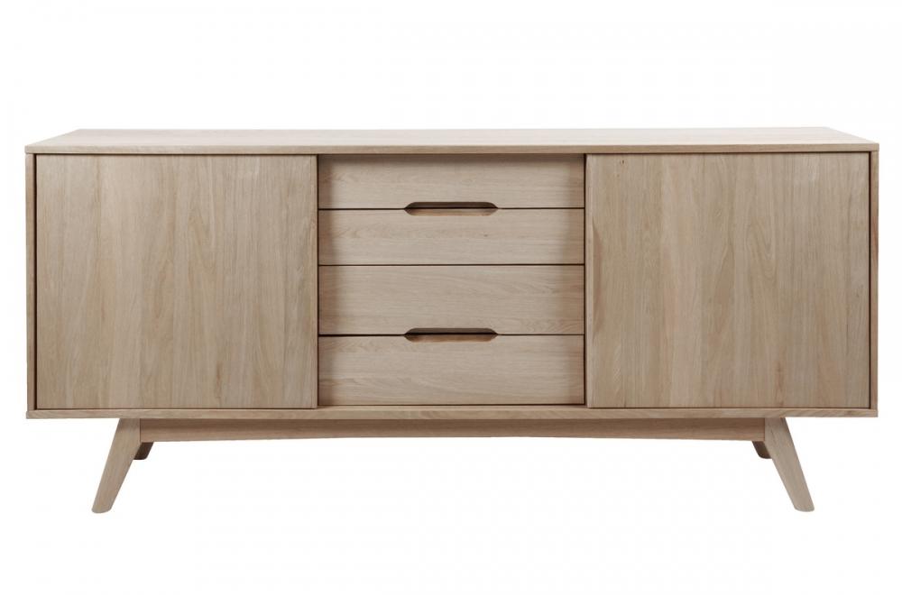 buffet design en bois ch ne huil majis mobilier priv. Black Bedroom Furniture Sets. Home Design Ideas