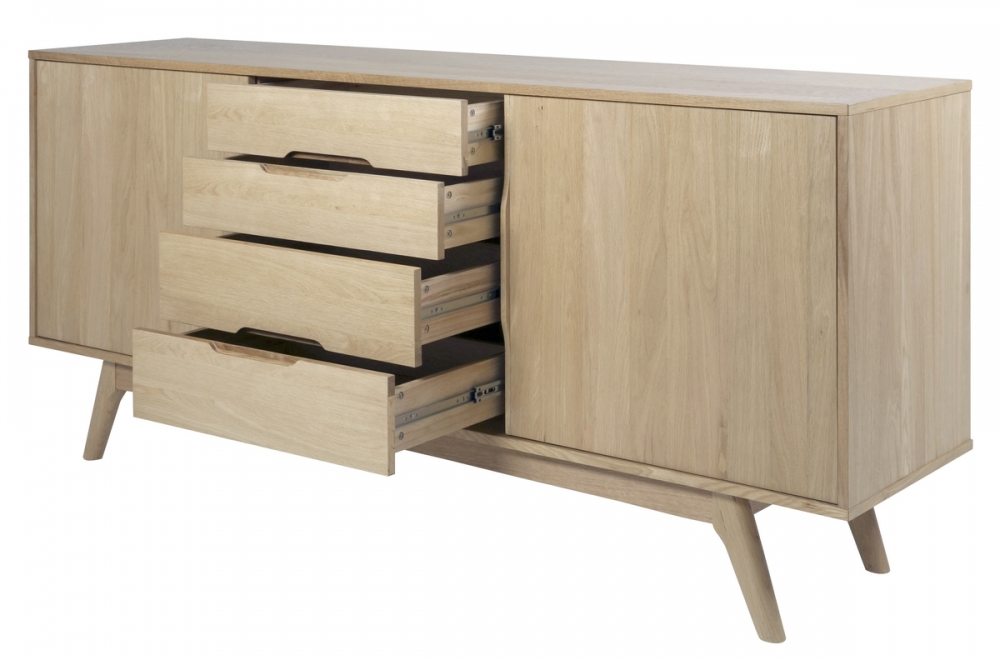Buffet design en bois ch ne huil majis mobilier priv - Buffet en chene clair ...