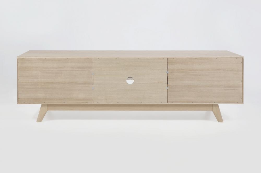 meuble tv design scandinave en bois massif finition ch ne. Black Bedroom Furniture Sets. Home Design Ideas