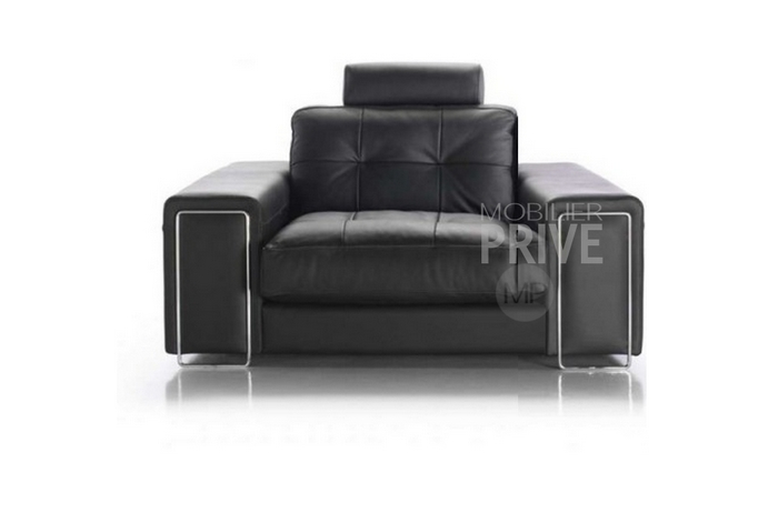 fauteuil une place en cuir prestige luxe haut de gamme. Black Bedroom Furniture Sets. Home Design Ideas