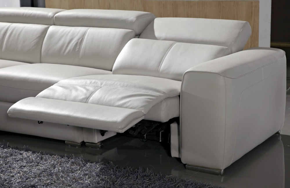 Canap d 39 angle double relax en cuir de buffle italien de luxe 7 8 places - Canape cuir buffle italien ...