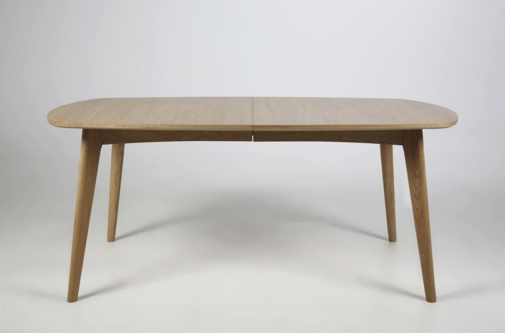 table manger marie coins ronds bois massif placage chne sans - Table Bois Massif Rallonge