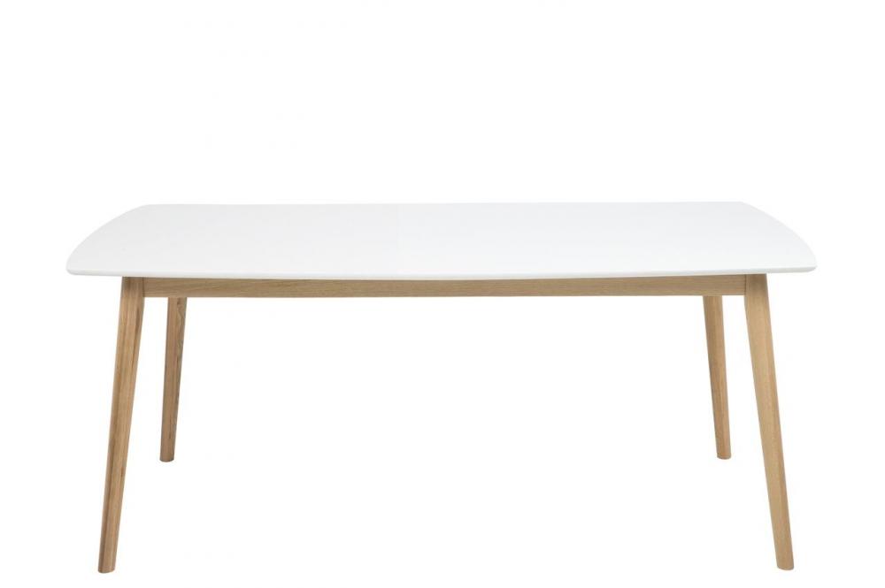Surréaliste Table à manger namaskar 180, bois laqué, plateau blanc - Mobilier VY-51