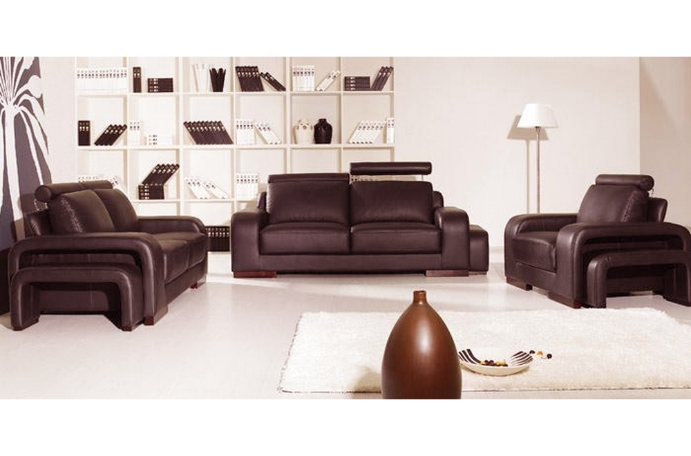 ensemble 3 pi ces canap 3 places 2 places fauteuil en cuir luxe italien vachette palermo. Black Bedroom Furniture Sets. Home Design Ideas