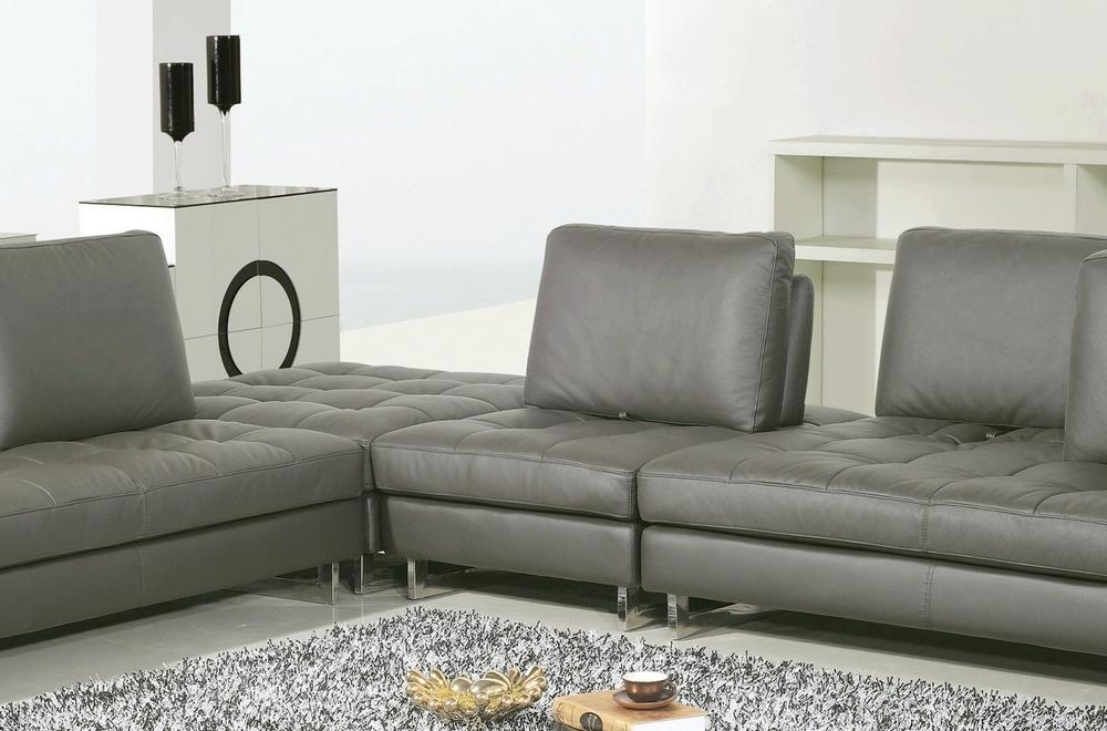 canap d 39 angle en cuir buffle italien de luxe 7 8 places penthouse gris fonc angle gauche. Black Bedroom Furniture Sets. Home Design Ideas
