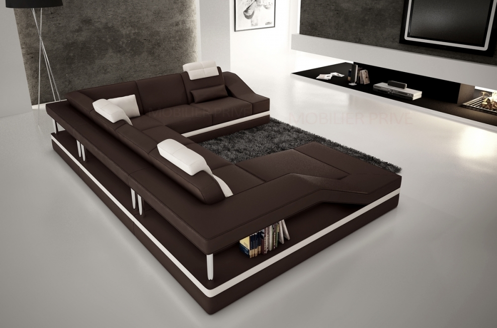 canap d 39 angle en cuir italien 8 places perfect chocolat. Black Bedroom Furniture Sets. Home Design Ideas