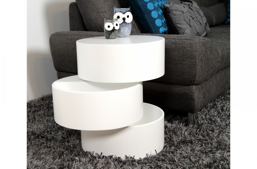table basse design laqu e blanc mat avec rangement pool mobilier priv. Black Bedroom Furniture Sets. Home Design Ideas