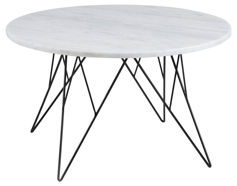 Table basse PRETTY, plateau en marbre blanc